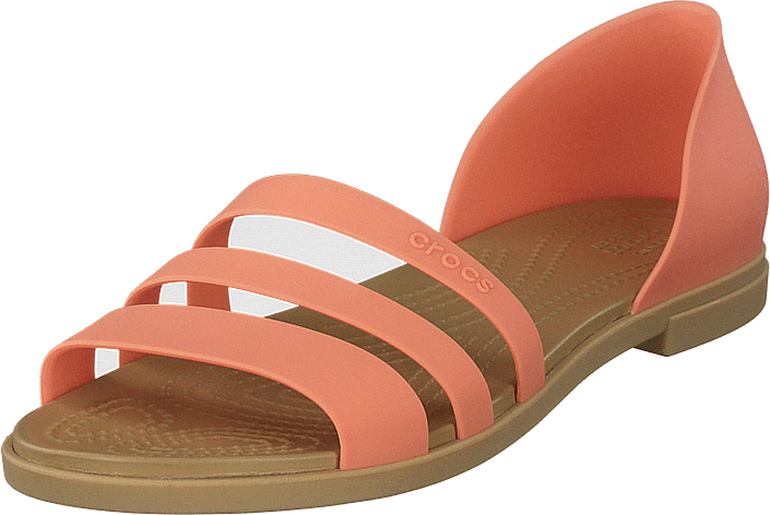 Crocs - Crocs Tulum Open Flat W Grapefruit/tan