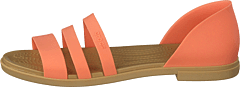 Crocs Tulum Open Flat W Grapefruit/tan