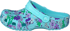 Classic Floral Clog Ps Ice Blue