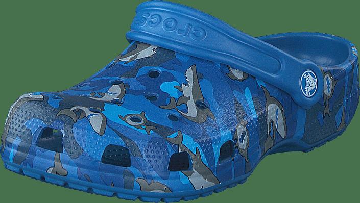 Crocs - Classic Shark Clog Ps Prep Blue