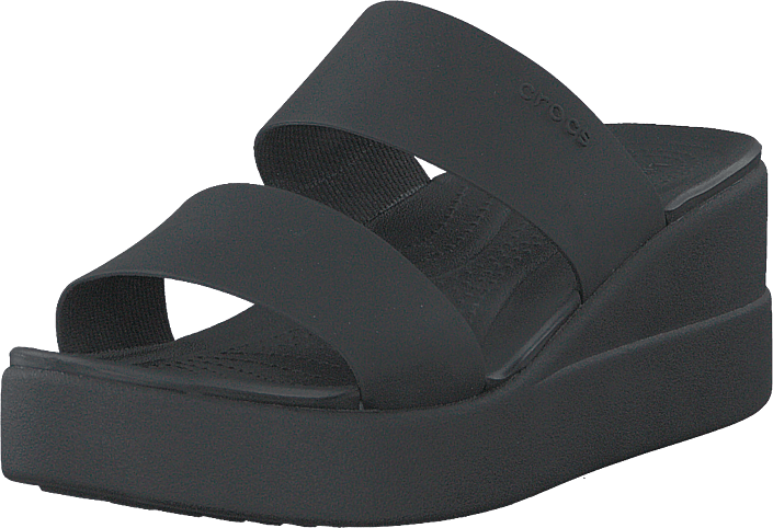 Crocs - Crocs Brooklyn Mid Wedge W Black/black