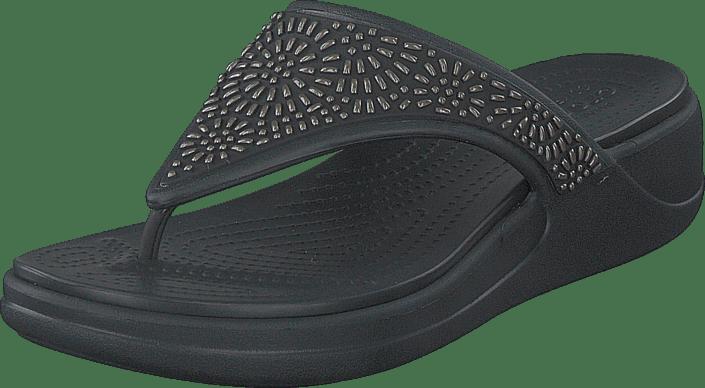 Crocs - Crocs Monterey Diamante Wdgfpw Black