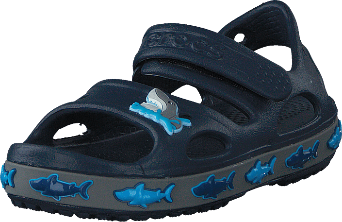 Crocs - Crocs Fl Shark Band Sandal B Navy
