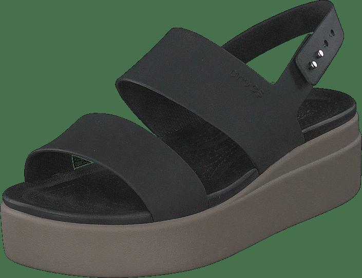 Crocs - Crocs Brooklyn Low Wedge W Black/mushroom