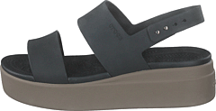 Crocs Brooklyn Low Wedge W Black/mushroom