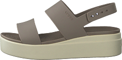 Crocs Brooklyn Low Wedge W Mushroom/stucco