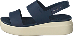 Crocs Brooklyn Low Wedge W Navy/stucco