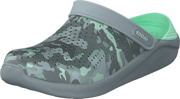 Crocs - Literide Printed Camo Clog Neo Mint/light Grey