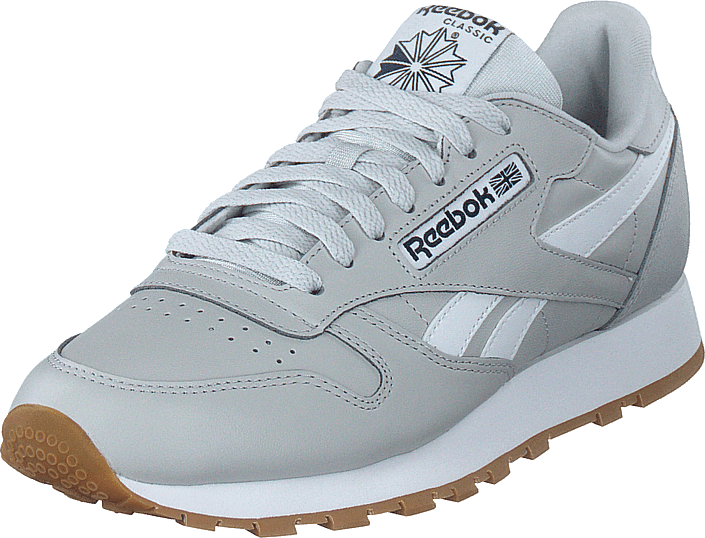 Reebok Classic - Cl Leather Mu Pure Grey 2/collegiate Navy/wh