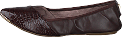 Ivy Brown Patent Croc