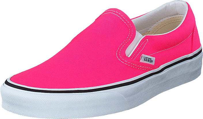Vans - Ua Classic Slip-on (neon) Knockout Pink/true Whit