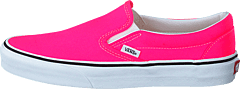 Ua Classic Slip-on (neon) Knockout Pink/true Whit