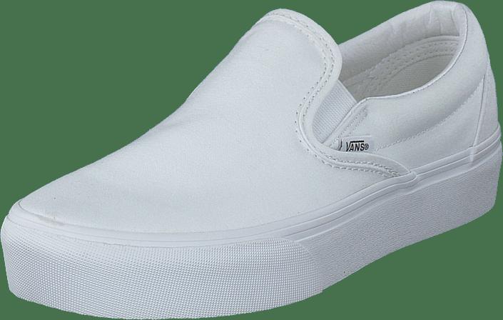 Vans - Ua Classic Slip-on Platform True White