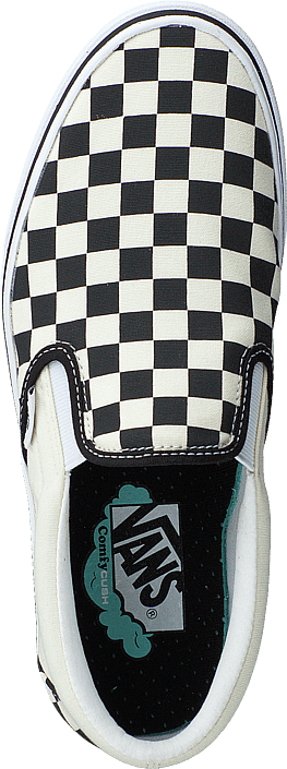 Vans Ua Comfycush Slip-on (classic) Checkerboard/true Wh Chaussures Homme