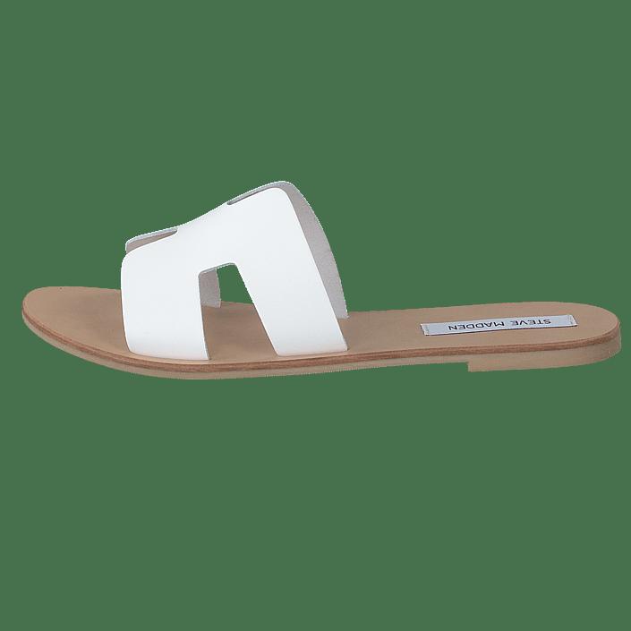 Grayson Slide White Leather