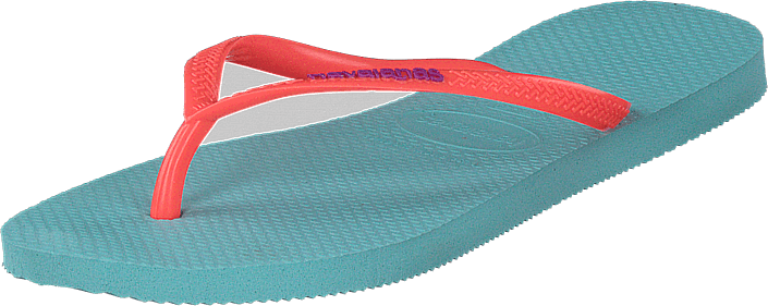 Havaianas - Slim Logo Pop Up Ice Blue / Coral New