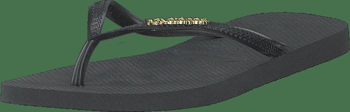 Havaianas - Slim Logo Metallic Black