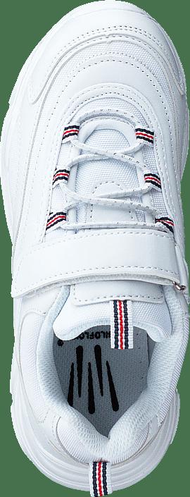 Wildflower Rossana All Over White Vita chunky sneakers för