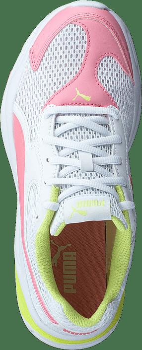 90s Runner Mesh Jr Puma White-peony-sunny Lime
