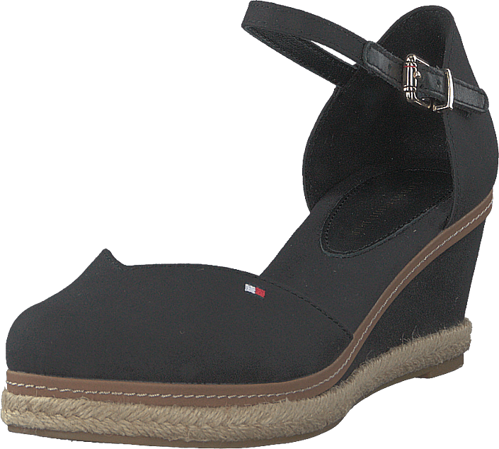 Tommy Hilfiger - Basic Closed Toe Mid Wedge Black Bds