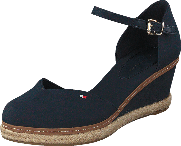 Tommy Hilfiger - Basic Closed Toe Mid Wedge Desert Sky Dw5