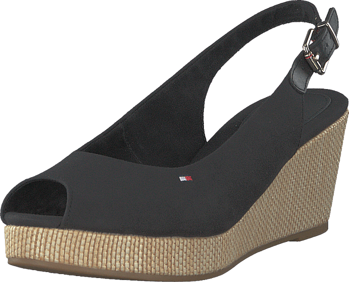 Tommy Hilfiger - Iconic Elba Sling Back Wedge Black Bds