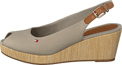 Iconic Elba Sling Back Wedge Stone Aep