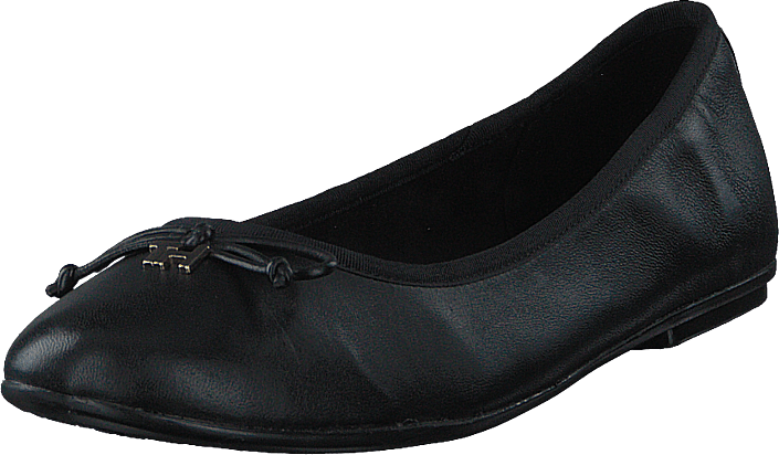 Tommy Hilfiger - Feminine Leather Knot Ballerin Black Bds