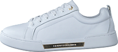 Branded Outsole Metallic Sneak White Ybs