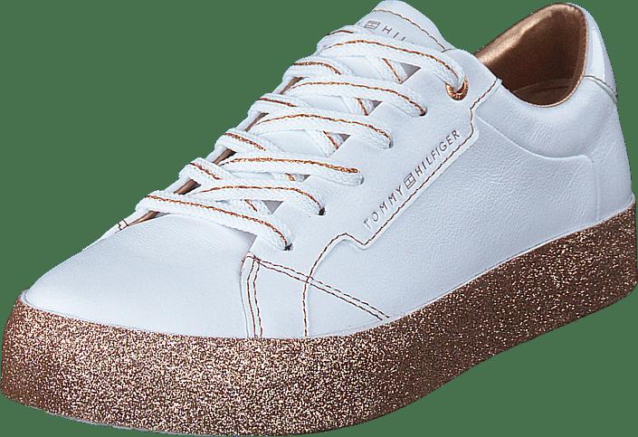 Tommy Hilfiger - Glitter Foxing Dress Sneaker White/gold 0k6