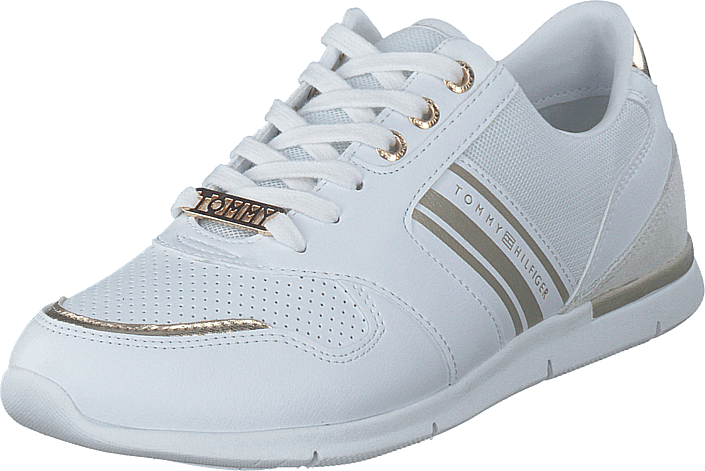 Tommy Hilfiger - Metallic Lightweight Sneaker White/light Gold 0k7