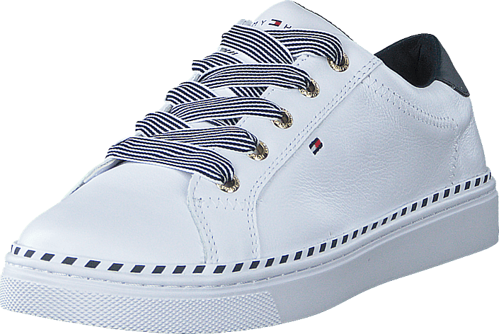 Nautical Lace Up Sneaker White Ybs