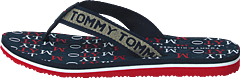 Tommy Metallic Flat Beach Sand Rwb 0kp