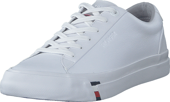 Tommy Hilfiger - Corporate Leather Sneaker White Ybs