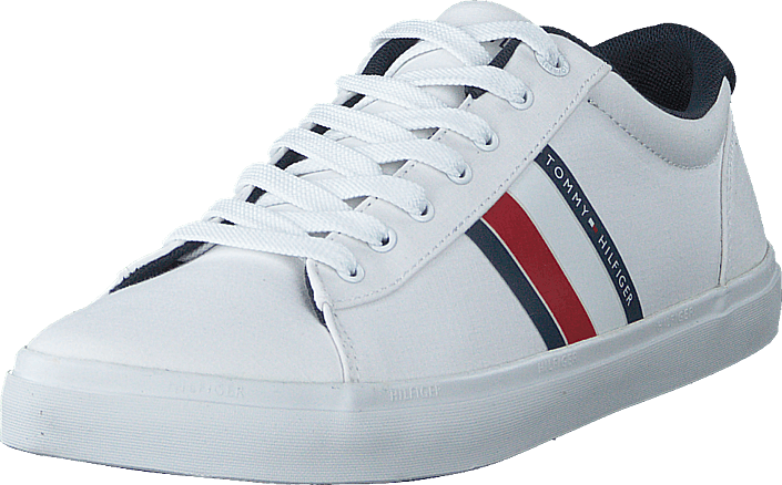 Tommy Hilfiger - Essential Stripes Detail Sneak White Ybs