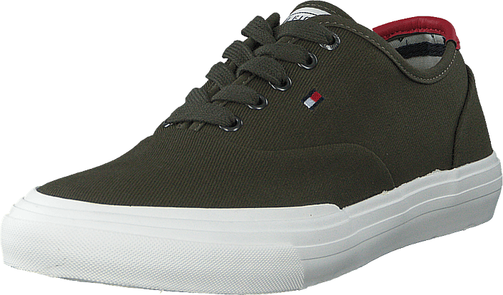 Tommy Hilfiger - Core Oxford Twill Sneaker Army Green Rbn