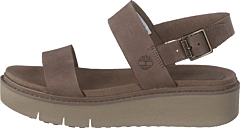 Safari Dawn 2 Band Sandal Taupe Gray