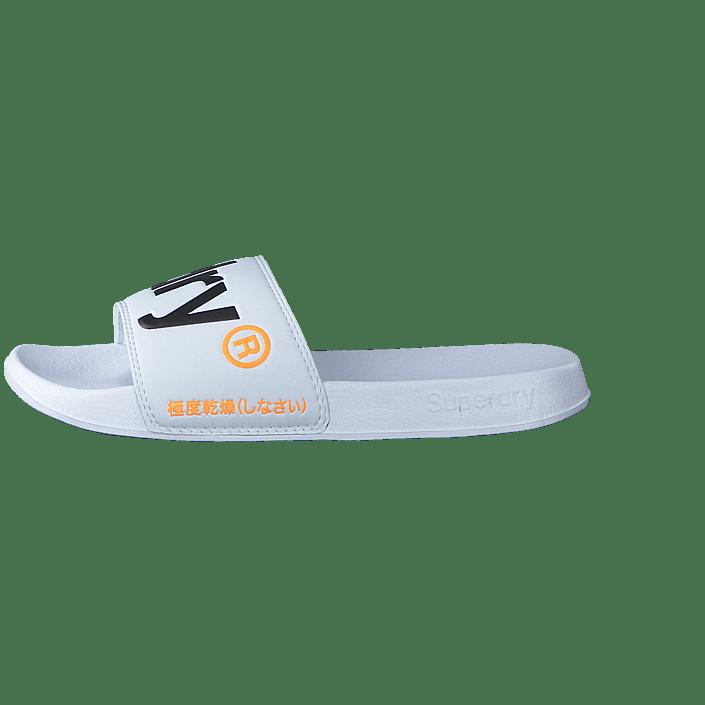 Kjøp Superdry Superdry Beach Slide Blackpineapple Aop sko