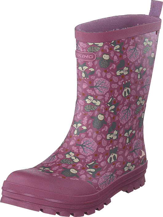 Viking - Jolly Woodland Dark Pink/multi