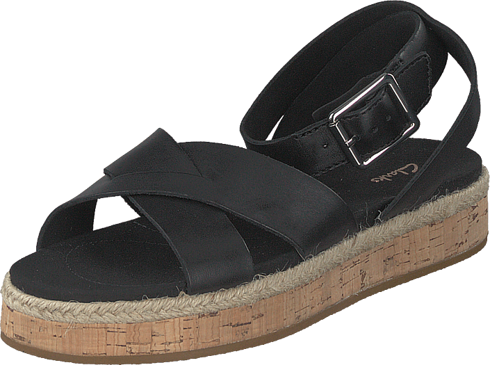 Clarks - Botanic Poppy Black Leather