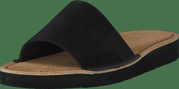 Clarks - Lunan Slide Black Leather