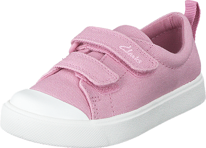 Clarks - City Bright T Pink Canvas