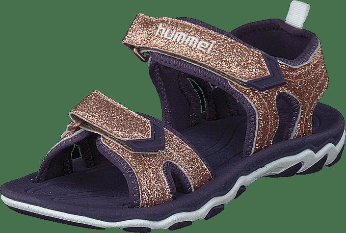 Hummel - Sandal Sport Glitter Jr Gold