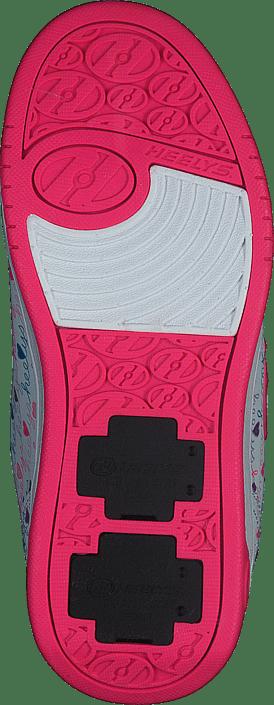 White//Pink//Multi Heelys X2 Dual Up