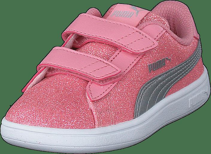 basket puma smash v2 glitz glam pour petite fille