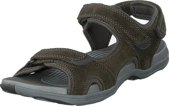 Green Comfort - Corsica Sandal W. Velcro Strap Olive