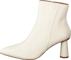 Cone Shape Ankle Boots Offwhite