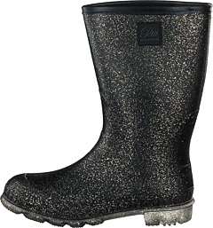 Rubber Boot Black Gold