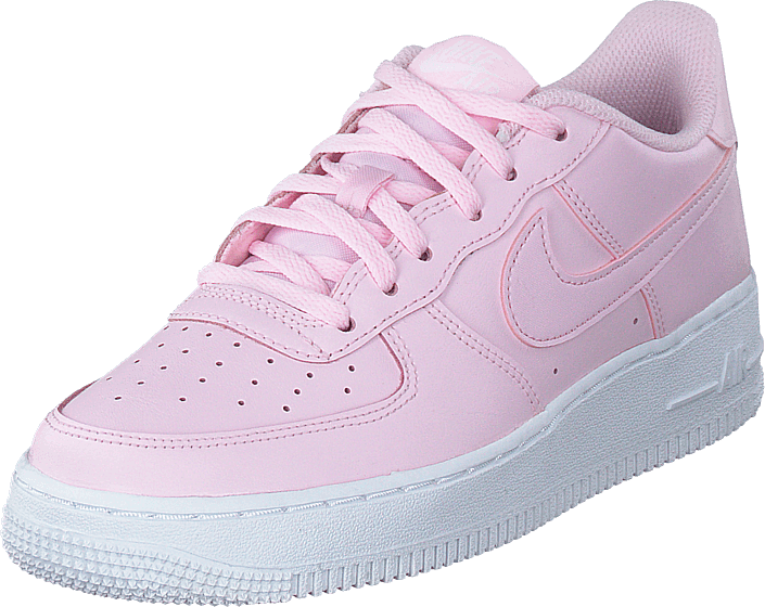pink and white air force 1