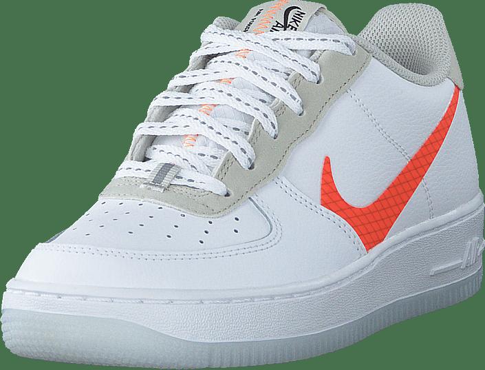 Nike - Air Force 1 Lv8 Gs White/total Orange